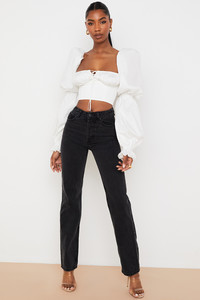 Yara Black Vintage Fit High Waist Jeans