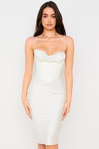 Myrna Ivory Corset Slip Dress