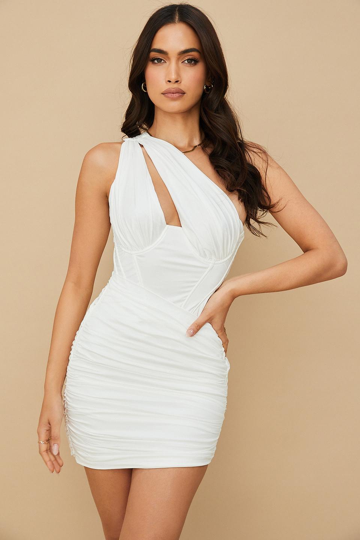 Clementine White Cut Out Mini Dress