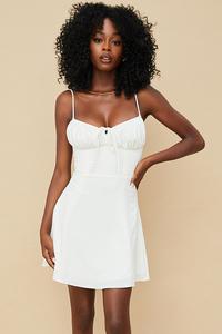 Araminta White Mini Sundress
