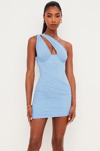 Clementine Baby Blue Cutout Mini Dress