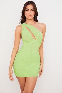 Clementine Lime Cutout Mini Dress