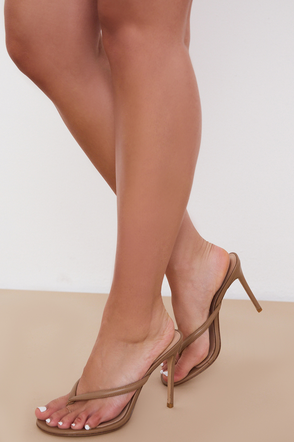 Lola Sunkissed Leather High Heel Thong Sandals