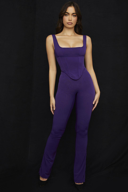 Erin Purple Mesh Trousers