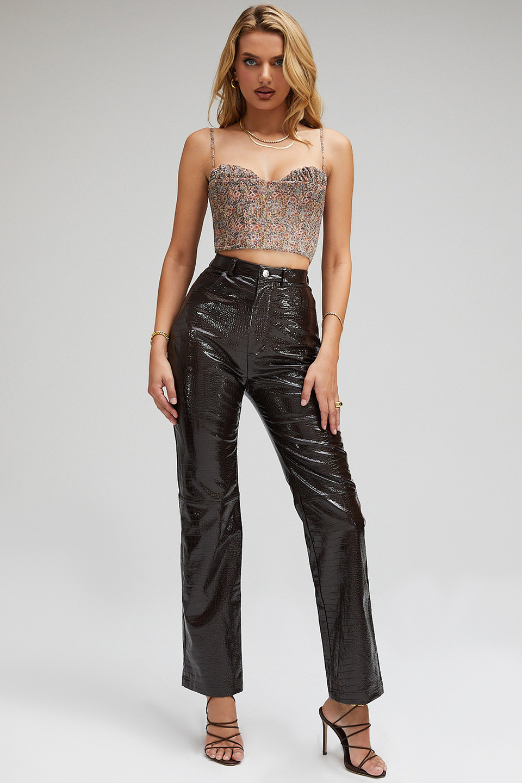 Unconditional Dark Chocolate Vegan Leather Trousers